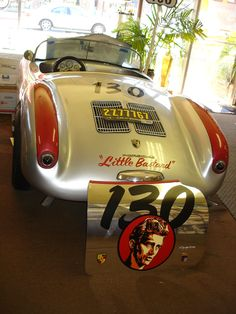 -James Dean car. thats not the car cos the original car got mangled when he hiy the 1940 ford.