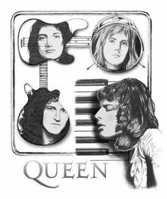 Freddie designed this cover Queen Brian May, I Am A Queen, John Deacon, Heavy Metal, Queen Drawing, Roger Taylor Queen, Graffiti, Queen Art, We Will Rock You