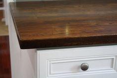 Must read: DIY Tutorial on staining Ikea Butcher Block countertops.
