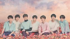 "Fan theories may be correct for BTS releasing something in August! On July news outlet reported that BTS is releasing a repackaged album for ""Lov Bts Laptop Wallpaper, Bts Wallpaper Desktop, Aesthetic Desktop Wallpaper, Army Wallpaper, Pastel Wallpaper, Wallpaper Ideas, Foto Bts, Bts Doll, Bts Jungkook"