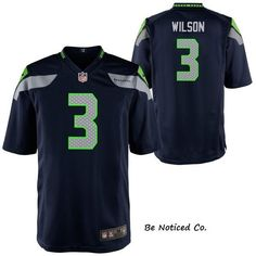 Nike Seattle Seahawks Russell Wilson #3 Home Game Jersey S 4 Boys New