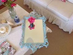 Vintage Shabby Chic Mirror Cottage Baroque by RetroDaisyGirl