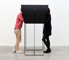 we should have something like this for people to have conversations in private.   Confession - privacy booth by Nick Ross