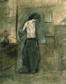 """huariqueje: """"  A Woman Undressing - Forain Jean Louis French 1852-1931 Drawing, 44 x 53 cm. """""""