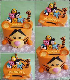 Tsum tsum cake Just Cakes, Character, Animals, Pastries, Animales, Animaux, Animal, Animais