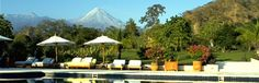 Hacienda de San Antonio - look at that amazing view of the volcano in the background!