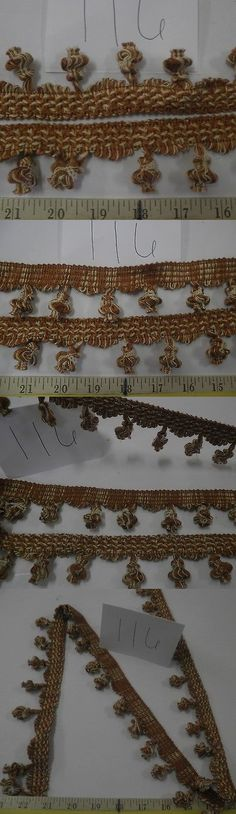 "TAN GOLD  Fabric  Trim 13 1//2  Yards  Italian  TASSEL SKIRT FRINGE  2/""  GREEN"