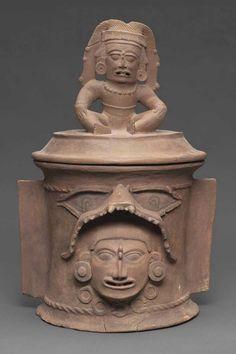 K'iché burial urn or cache urn lid Maya , A.D. 650–850. -1