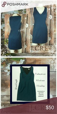 ❕ J. Crew v neck shift dress Fashionable and functional J. Crew deep v neck dress. Deep peacock blue.  Back zipper closure.  100% lightweight wool. Measurements above. NO TRADES PLEASE! OFFERS WELCOME THROUGH OFFER FEATURE ONLY PLEASE J. Crew Dresses
