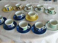 Arabia Finland, vintage coffee cups...