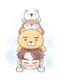 @abimabima Twitter and Instagram Got7 Fanart, Kpop Fanart, Jaebum Got7, Youngjae, Got7 Funny, Park Jinyoung, Kpop Drawings, Floral Drawing, Bts Chibi