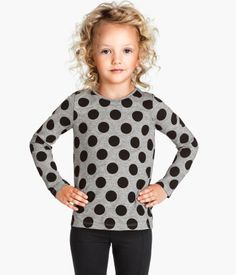 H&M Patterned Jersey Top $6.95