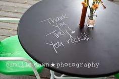 love the chalkboard idea