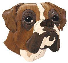 Boxer Head Intarsia Pattern