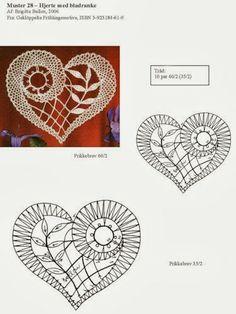 "Photo from album ""Неразобранное"" on Yandex. Crochet Motif Patterns, Bobbin Lace Patterns, Crochet Diagram, Heart Patterns, Filet Crochet, Irish Crochet, Crochet Lace, Crochet Hearts, Crochet Edgings"