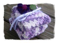 Crochet #Kitchen Dishcloths Set Cotton Country Washcloths Lavender #Handmade NEW