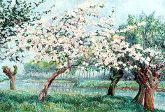'Apple Blossom on the Rivers Edge' - by Anna de Weert