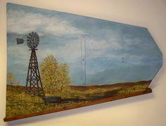 Windmill Vane Painted Scene