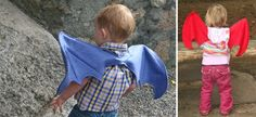 ACK!! This is such an awesome idea! Free tutorial on making dragon wings!