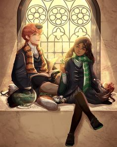 young newt and leta - Hogwarts Harry Potter Fan Art, Hery Potter, Fans D'harry Potter, Mundo Harry Potter, Harry Potter Poster, Harry Potter Drawings, Harry Potter Fandom, Harry Potter Universal, Harry Potter Memes