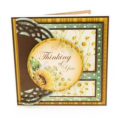 Handmade Card : This card has been made using the Sunflower Song Collection from Creative Crafting World