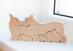Holz Puzzle Hunde Spielzeug Puzzle Spielzeug von LadyEvaDESIGN