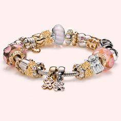1086 Pandora Breast Cancer Awareness Bracelet