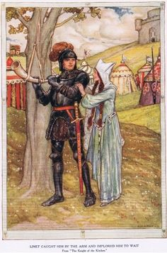 The Knight of the Kitchen, from 'King Arthur and the Knights of the Round Table', by Doris Ashley, published 1921 illustrated by Arthur A. Dixon