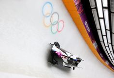 Elana Meyers and Lauryn Williams of the United States team 1 make a run during the Women's Bobsleigh at Sliding Center Sanki. Usa Olympics, Winter Olympics, Bobsleigh, Olympic Committee, Tokyo 2020, Skiing, Athlete, Photo Galleries, United States