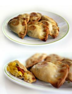 mini-creamed corn-empanadas - M. Gourmet Recipes, Mexican Food Recipes, Appetizer Recipes, Cooking Recipes, Empanadas Recipe, Good Food, Yummy Food, Salty Foods, Cooking Wine