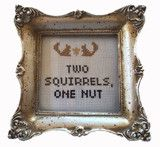 PDF: Two Squirrels, One Nut | Subversive Cross Stitch