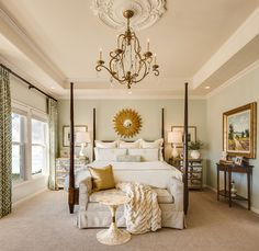 Medallion Bedding Bedroom Traditional with Bedroom Bedroom Chandelier Ceiling Medallion Chandelier Four Poster Bed Gold Chandelier Gold