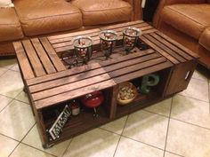 Six Crate Coffee Table