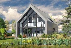 Resultado de imagem para barend koolhaas architecten / huis in almen Prefab Cottages, Small Modern House Plans, Loft House, Steel House, Loft Style, Maine House, Exterior Design, Livingstone, Bungalow