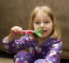 firefly toothbrush...they blink for 2 mins so that kids know when to stop brushing. we love these!