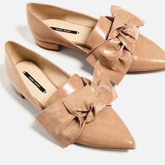Image 5 of FLAT SHOES WITH BOW DETAIL from Zara