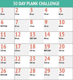 I love a good fitness challenge, and I think that the plank is an AMAZING exercise to help build core strength. I think I may start this challenge in December. It will be perfect to help me stay … Plank Challenge Chart, 30 Day Squat Challenge, Planking Challenge, December Challenge, Challenge Accepted, Plank Workout, Fitness Herausforderungen, Fitness Motivation, Free Fitness