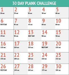 « 30 days plank challenge » : un ventre plat en 1 mois ! - Elle