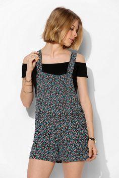 Lucca Couture Chiffon Overall Romper