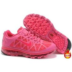 Nike Air Max 2011 Women Mesh Shoes Pink/Red Color