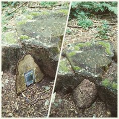 Tricky little wood wedge geocache. Nice placement to blend in with the surroundings. #IBGCp