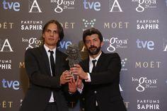"""Premio """"mejor guión original"""". Rafael Cobos y Alberto Rodríguez por 'La isla mínima'. #goya2015 #federopticos #premiados"""