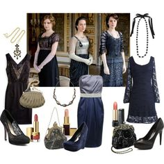 Want to dress to theme but still look current? Find a contemporary look with patterns, fabric, or accessories that evoke Downton signature style!