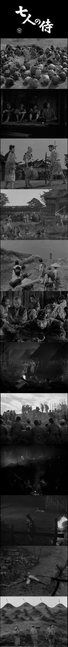 Seven Samurai (1954) -  Cinematography by Asakazu Nakai   Directed by Akira Kurosawa