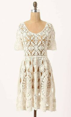 Outstanding Crochet: Crochet dress. Great work by the sooo gifted crochet genius of outstanding crochet!