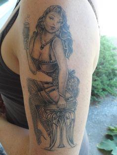 My pin up tattoo up close!