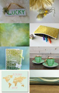 Old and New - All in Green and Gold by Jutta Glanz on Etsy--Pinned with TreasuryPin.com