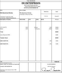 sales invoice template excel free download