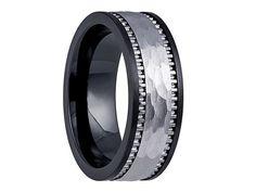Black Ceramic RingBlack Ceramic BandCeramic by Lasercraftdesign