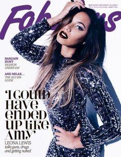 Leona Lewis Illuminates The Fall Cover Of Britain's Fabulous Magazine